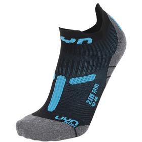 """UYN 2"""" Running Socks Men, zwart/turquoise"""